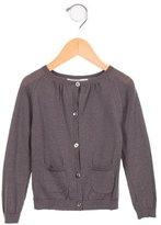 Bonpoint Girls' Wool Button-Up Cardigan
