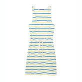 Petit Bateau Women's tricolor sailor striped tank top dress in medium jersey