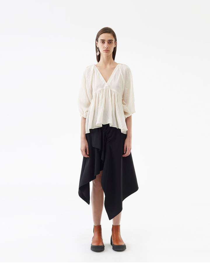 3.1 Phillip Lim Empire Waisted V-Neck Top