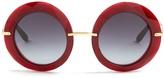 Dolce & Gabbana Round-frame acetate sunglasses