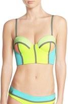 Maaji Women's 'Lime Cubism' Underwire Bikini Top