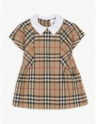 Burberry Robyn cotton check dress 6-24 months