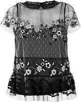 RED Valentino lace insert sheer blouse