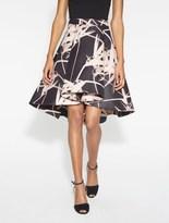 Halston Printed Structured Skirt