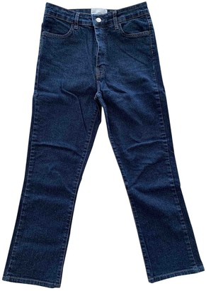 Barbara Casasola Blue Cotton - elasthane Jeans for Women