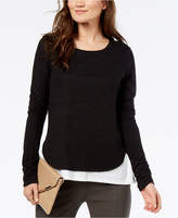 INC International Concepts I.N.C. Colorblocked Layered-Look Top, Created for Macy's
