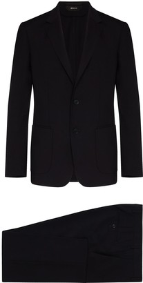 Ermenegildo Zegna Notched Lapel Blazer Jacket