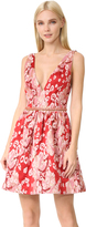 Marchesa Sleeveless Leopard Cocktail Dress