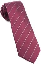 The Tie Bar Burgundy Pencil Pinstripe Tie