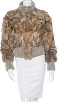 CNC Costume National Knit Trimmed Fur Jacket
