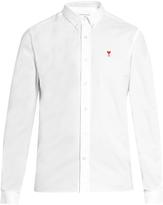 Ami Button-cuff cotton shirt