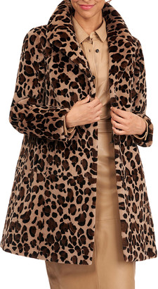 Gorski Reversible Leopard-Print Sheared Mink Fur Stroller Coat
