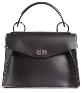 Proenza Schouler 'Medium Hava' Top Handle Calfskin Leather Satchel - Black