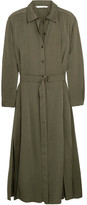 Diane von Furstenberg Clarise Silk-blend Shirt Dress - Army green