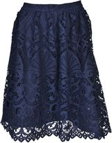 Alice + Olivia Joyce Knee Length Lace Skirt