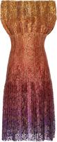 Paule Ka Pleated Ombre Dress