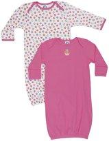 Gerber 2-Pk Lap Shoulder Gown Girl - Multicolor-0-6 Months