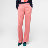 Paul Smith Women's Straight-Leg Mottled Pink Trousers