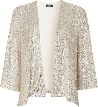 Wallis Oyster Sequin Jacket