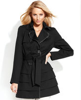 INC International Concepts Double-Breasted Tiered Trench Coat