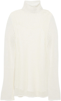 The Row Tameli Open-knit Silk Sweater