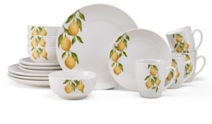 Pfaltzgraff Studio Nova Countryside Lemons 16 Piece Dinnerware Set, Service for 4