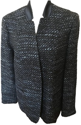 Elie Tahari Navy Tweed Jacket for Women