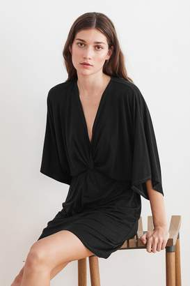 Velvet by Graham & Spencer AMANDA TENCEL TWIST FRONT DRESS