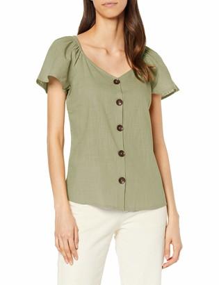 Dorothy Perkins Women's Flutter Sleeve Top Shirt