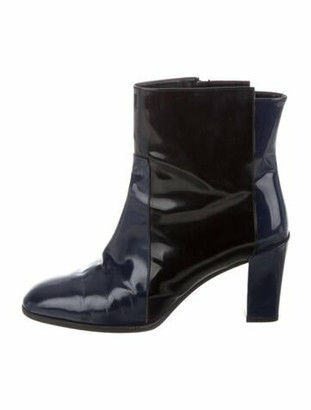 Roger Vivier Patent Leather Boots Black