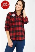 Select Fashion Fashion Womens Red Badge Check Shirt - size 6