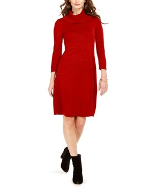 Nine West Cowlneck Sweater Dress