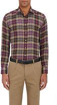 Etro Men's Plaid Button-Front Shirt-PURPLE
