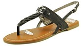G by Guess Lorriee Women Open Toe Leather Brown Thong Sandal.