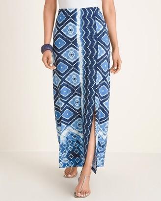 Chico's Border-Print Maxi Skirt