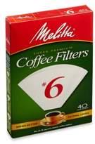 Melitta 40-Count Number 6 White Super Premium Coffee Filters