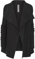 Rick Owens Draped Cotton Cardigan - Black