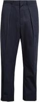Marni Wide-leg Button-cuff Cotton Cropped Trousers