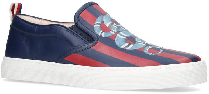 Gucci Leather Dublin Snake Sneakers
