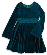 Ella Moss Girls 7-16 Crocheted Velvet Dress