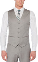 Perry Ellis Regular Fit Herringbone Suit Vest