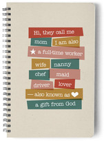 Minted A Mom has Many Titles Day Planner, Notebook, or Address Book