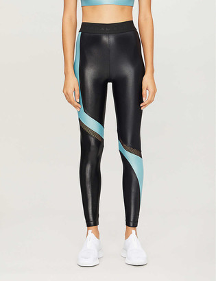 Koral Prompt Infinity contrast-panel stretch-jersey leggings