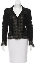 Alexander McQueen Grommet-Embellished Leather Jacket