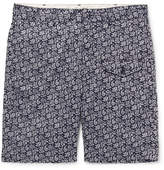 Engineered Garments Ghurka Paisley-print Cotton-voile Shorts - Navy