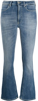 Dondup High-Rise Cropped Kick-Flare Jeans