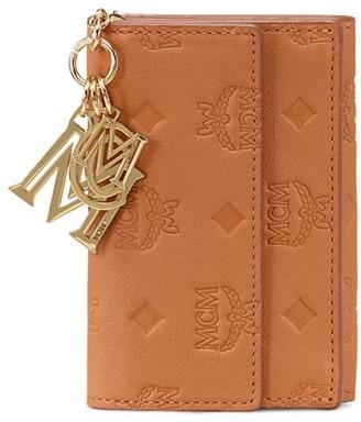 MCM Klara Monogram Tri-Fold Wallet