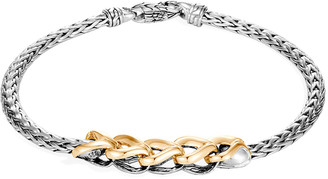 John Hardy Asli Classic Chain Two-Tone Link-Station Bracelet, Size M