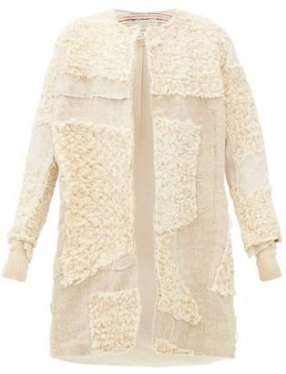 By Walid Mira Single-breasted Arran-wool And Linen Coat - Beige