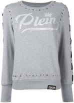 Philipp Plein grommet detailed sweatshirt - women - Cotton - XS